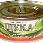 Щука в томатном соусе ГОСТ 16978-89 (консервы рыбные) фото