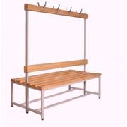 Скамейка двойная с вешалками для раздевалок - 1000 (1500, 2000) фото