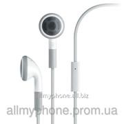 Наушники для мобильного телефона Apple iPhone 3 / 3GS / 4 / 4S с микрофоном white фото