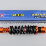 Амортизатор GY6, DIO, TACT 270mm, тюнинговый NDT оранжево-черный фото