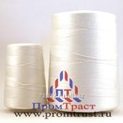 Нить ЛШ-210, ЛХ200 полиэфирная, белая и цветная( лавсан хлопок, лавсан-штапель) фото