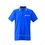 Рубашка поло Daewoo синяя с полоскй фото