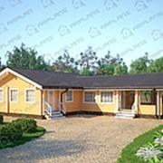 Дом из профилированного бруса ДБП-115(1) фото