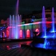 Монтаж подсветки фонтанов фото