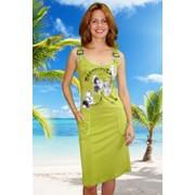Платье 06 зеленый (06-10) фото