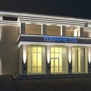 Подсветка зданий и фасадов, ландшафтное освещение фото