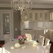 Комплект мебели для кухни в классическом стиле фото
