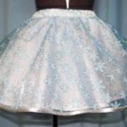 Юбка снежинки голубые фото
