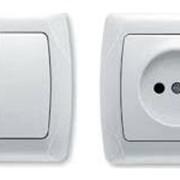 Выключатель 1кл. с инд. 10А КВАРТА 200 ВС 10-1-1-КБ фото