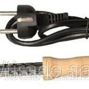 Электропаяльник Светозар, деревянная рукоятка, жало Long Life, форма клин, 80Вт код SV-55310-80 фото