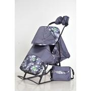 Санки-коляска Kristy Luxe Comfort Серый фото