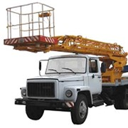 Автоподъёмник телескопический АП-18 на базе шасси ГАЗ-3309 для подъема на высоту до 18 м рабочих с материалами и инструментом при производстве ремонтных, строительно-монтажных и других видов работ фото