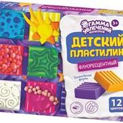 Пластилин детский ФЛУОРЕСЦЕНТНЫЙ, 6,9,12 цветов фото