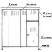 Ворота распашные ВР 30х30-УХЛ1, серия 1.435.2-28 фото