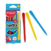 Edding Мелки пластиковые 6 цветов MAPED PLASTICLEAN, в картоне фото