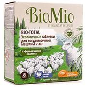 """Таблетки для посудомоечной машины 7-в-1 """"BioMio"""", с эфирным маслом эвкалипта, 30 шт фото"""