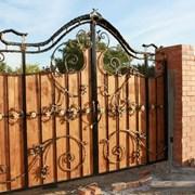 Красивые кованые ворота фото