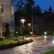 Декоративное освещение сада, дома, проектирование ландшафтного дизайна фото