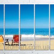 Модульна картина на полотні Морський пляж код КМ100150(150)-001 фото