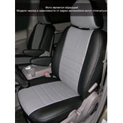 Чехлы Audi A6 (С6) 06г дел. чер-сер к/з Классика ЭЛиС