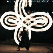 Огненное шоу на свадебный юбилей. фото