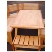 Мебель садовая деревянная фото
