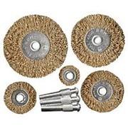 Matrix Набор щеток для дрели, 5 шт, 5 плоских 25-38-50-63-75 мм, со шпильками, металлические Matrix фото