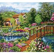 Схема для частичной вышивки бисером Цветочный рай фото