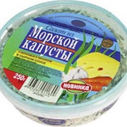 Салат из морской капусты РОК с крабовым мясом, 450г фото