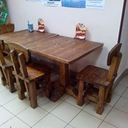 Мебель из дерева под старину. Столы, стулья и т. д фото