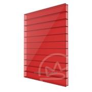 Сотовый поликарбонат 4мм красный Soton фото