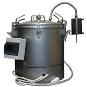 Автоклав для домашнего консервирования (электрический) (нерж.) на 46 л. с ЭБУ (арт. АЭ 1) фото