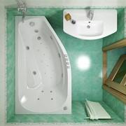 Тритон акриловая гидромассажная угловая ванна СКАРЛЕТ правая фото