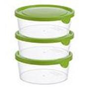 Ёмкость IDEA для продуктов круглая 0,75л (3шт.) М1441 /12/ фото