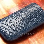 Чехол для Samsung Galaxy S6 Edge croco Blue фото