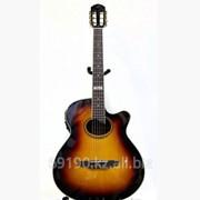 Гитара классика Tagima с подключением к усилителю фото