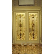 Двери с витражами фото