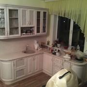 Кухня из дерева Флюра белая патина Ерко фото