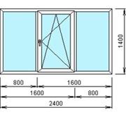 Окна ПВХ 1400х2400 мм. Трехстворчатое. фото