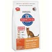 Корм для котов Hill's Science Plan Optimal Care для кошек для поддержания оптимального веса с ягненком 400 гр фото