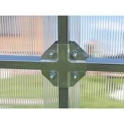 Теплица из стальной трубы 4x3x2 Крабовое соединени фото