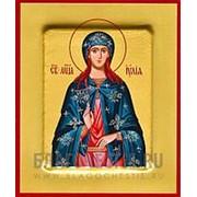 Храм Покрова Богородицы Иулия (Юлия), святая мученица, икона на сусальном золоте (дерево 2 см с ковчегом) Высота иконы 10 см фото