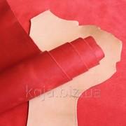 """Натуральная кожа """"Крейзи Хорс"""" для обуви и кожгалантереи красная арт. СК 2089 фото"""