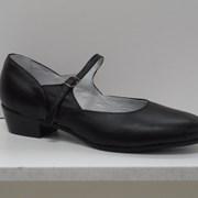 """Туфли для народных танцев """"Вариант"""" (черный) фото"""