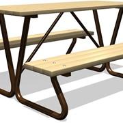 Стол со скамьями для настольных игр фото