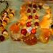 Бусы ювелирные из янтаря фото