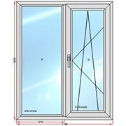 Пластиковое окно 1420х1150 фото
