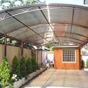 Навес аркой над проходом из поликарбоната НП-132 фото
