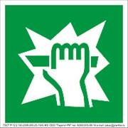 Знак безопасности фотолюминесцентный Е17 фото