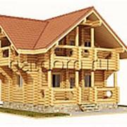 Дом из оцилиндрованного бревна 6,9х8,7 фото